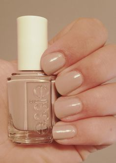 ESSIE Nail Polish - 'Not Just A Pretty' face (nude/beige) -Shiny and natural #rebeccaminkoff