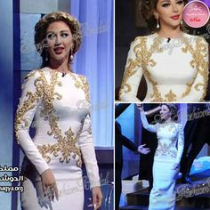 4091fe191072b Arabia Sexy Singer Myriam Fares Dresses Round neck With Beaded Mermaid  Floor length Chiffon Evening Celebrity