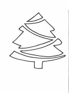 una arbolito de navidad troquelado