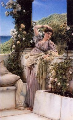 Thou Rose of all the Roses, oil on panel (1883) by Lawrence Alma-Tadema