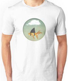 Under A Cloud, Goldfish With A Shark Fin Unisex T Shirt