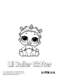 Lil Roller Sk8ter Coloring Page Lotta LOL