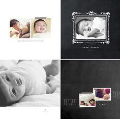 album digital Shutterfly plantilla Baby_black