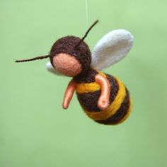 Bees mobile  Waldorf inspired needle felted by by byNaturechild