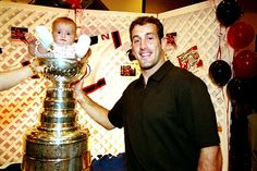 On August 16, 2000, BU alum Jay Pandolfo (Hockey East Player of the Year in 1995-96), returned to the area with the Stanley Cup, won by his New Jersey Devils, and allowed all comers to pose with (or even in) the NHL's venerable trophy.