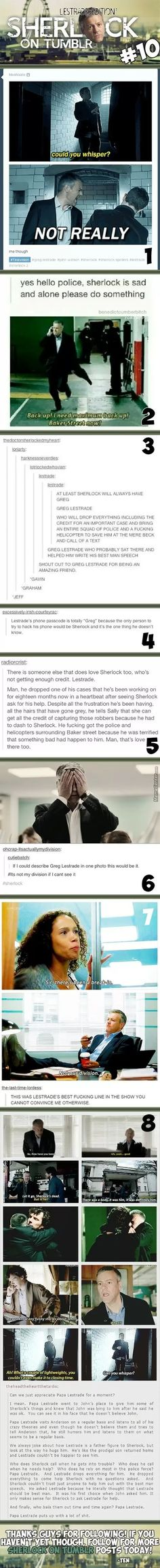 Sherlock On Tumblr #10 : Lestrade Edition!