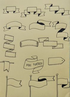 Banners e faixas para cadernos e bullet journal / lettering lettering tutorial, hand lettering, Bullet Journal Banners, Bullet Journal Notes, Lettering Tutorial, Doodle Lettering, Brush Lettering, Banner Doodle, Sketch Notes, Cursive, Journal Inspiration