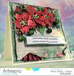 Kartka świąteczna z papierów LemonCraft