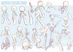 Best Ideas For Drawing Poses Anime Artists Body Reference Drawing, Drawing Reference Poses, Body Drawing Tutorial, Poses References, Drawing Expressions, Art Poses, Cartoon Art Styles, Cartoon Design, Drawing Base