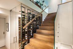 Wine Cellar Basement, Wine Cellar Design, Blue Coats, Wine Storage, Small Apartments, Yorkie, Creative Design, Stairs, New York