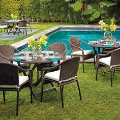 Transform your outdoor space into a stylish oasis with the array of patio furniture sets at Frontgate. Shop our outdoor furniture collections now. Cafe Tables, Cafe Chairs, Lounge Chairs, Dining Chairs, Outdoor Cushions, Outdoor Fabric, Outdoor Settings, Table Settings, Round Folding Table