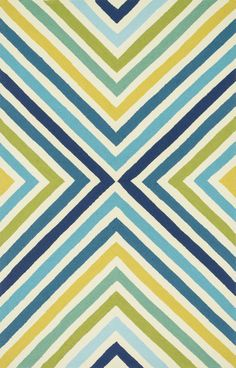 Palm Springs Handmade Blue/Green Outdoor Area Rug