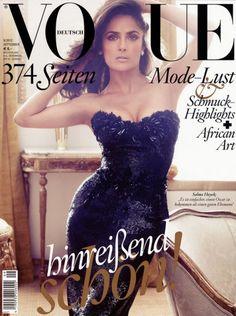 HOT TAMALES!! Selma Hayek Covers Vogue UK September 2012 Issue