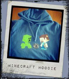 OOAK Minecraft hoodie :)  https://www.facebook.com/littlepickers
