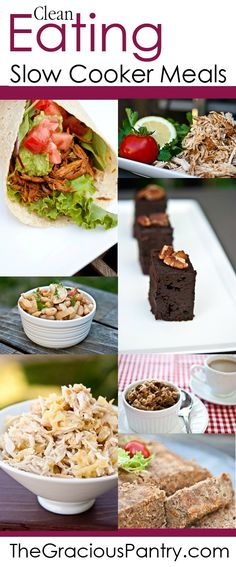 Clean Eating Slow Cooker Recipes. Let dinner cook itself tonight! #cleaneating #eatclean