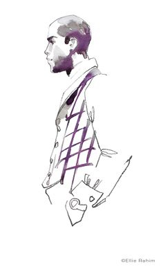 #fashion #sketch from life at the Society of Illustrators, NYC. Print available…