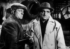 """Lino Ventura et Jean Gabin dans """" Le rouge est mis """""""