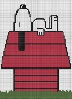 CROCHET PATTERN SNOOPY AFGHAN GRAPH E-MAILED.PDF CROSS STITCH KNITTING