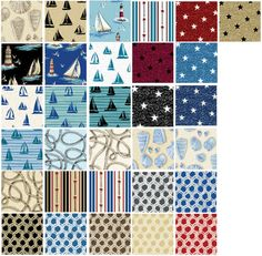 By The Sea Fat Quarter Bundle  31 pieces  by WarmKittyQuilts, $77.50