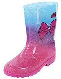 c4661ef09016f Kids Rainboots for Girls JoJo Siwa Bow Glitter Tall Rain Boot Shoe Lined  Purple  girl