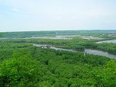 Wyalusing State Park where the Wisconsin River feeds Into the Mississippi River