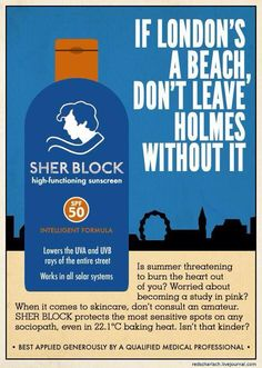 "Hahaha this is brilliant! ""Sher Block."" #sherlock #funny"