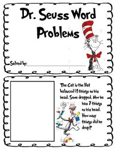 Dr. Seuss Addition and Subtraction Double Digit Word