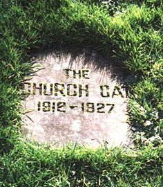 Here lies the church cat, where he sunned for 15 years...