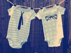 Hipster Nerd Onesie Set - Baby Boy 9 months