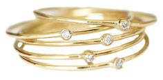 Jennifer Meyer stackable diamond rings