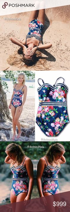 Arriving 7/8‼️ 💖 Blue Floral Print Swimsuit 🌟BRAND NEW🌟  Blue floral print one piece swimsuit. Material is Polyester & Spandex. Very limited quantity. RESERVE YOURS NOW!  💟Size Chart are approximate measurements,  please allow a few inches difference.  💟Please double check size chart before purchasing.  💟Please ask questions before purchasing. 💟PRICE is FIRM 💟NO Trades Davin+Theia Swim One Pieces