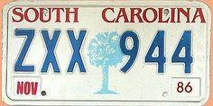 US Nummernschild South Carolina - original - Hausnummern und Schilder online kaufen