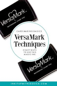 VersaMark Techniques: This Ink Pad is MAGIC! This ink pad is MAGIC! Here are 5 easy VersaMark Techniques to use in your card making.This ink pad is MAGIC! Here are 5 easy VersaMark Techniques to use in your card making. Card Making Tips, Card Tricks, Card Making Tutorials, Card Making Techniques, Easy Card Making Ideas, Making Cards, Card Making Inspiration, Stampin Up Anleitung, Embossing Techniques