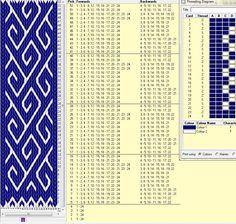 24 tarjetas, 4 colores, repite dibujo cada 12 movimientos // sed_209a༺❁