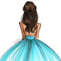 Grace hnillustration.etsy.com #fashionillustration #fashionsketch #fashionillustrator #hairillustration