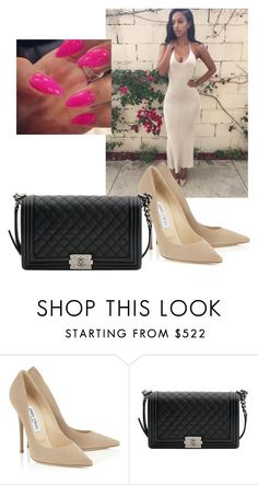 """""""Untitled #104"""" by balloutliaaa ❤ liked on Polyvore featuring Chanel and halterdresses"""