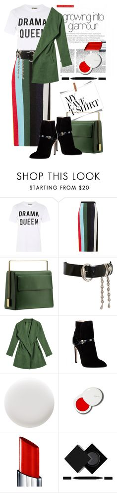 """""""Just Queen, no drama!"""" by loves-elephants ❤ liked on Polyvore featuring Love, Diane Von Furstenberg, Lautēm, Versace, Emilio Pucci, Deborah Lippmann, lilah b., By Terry, Serge Lutens and MyFaveTshirt"""