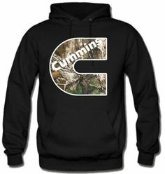 Large Dodge Cummins Hoodie Sweat Shirt Sweatshirt Hooded Sweater Truck Fleece Cummings