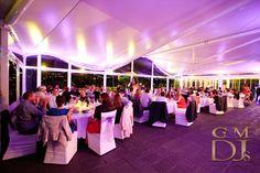 Wedding uplighting at the Landing at Dockside Brisbane by G&M DJs | Magnifique Wedding Lighting #gmdjs #magnifiqueweddings #lightingdesign #thelandingatdockside @gmdjs