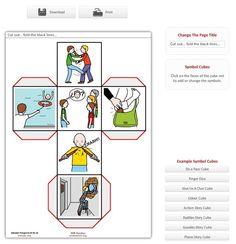 Générateur de cubes en images (10000 images disponibles !) pour revoir du vocabulaire, créer un jeu, écrire une histoire... en CLA.