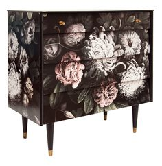 Midcentury Chest of Drawers with Decoupage
