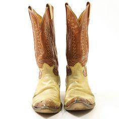 Tony Lama Two Tone Leather Cowboy Boots / Men's sz 12