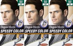 Bigen Men's Speedy Hair Colour 102 Brown Black X 3 Packs -- Read more  at the image link.