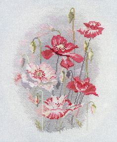I like the dusty greys and pinks, great stitchery.
