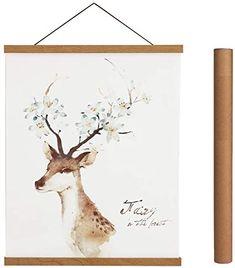 Magnetic Poster Hanger Frame, Light Wood Wooden Magnet Canvas Artwork Print Dowel Poster Hangers for Frames Hanging Kit (Teak Wood, Canvas Artwork, Artwork Prints, Poster Prints, Wall Art Sets, Framed Wall Art, Decorative Lines, Hanging Posters, Nature Prints, Plant Wall