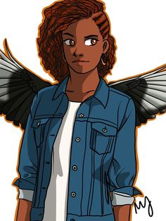 Hazel (with and awesome hairstyle) with wings