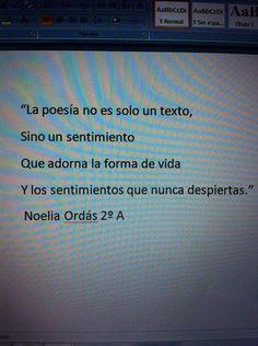Poema de Noelia Ordás, alumna de 2º A ESO del IES Valle del Luna (Sta. Mª del Páramo. León) Tv, Texts, Tinkerbell, Feelings, Poems, Life, Television Set, Television