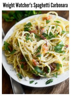 Weight Watcher's Spaghetti Carbonara!