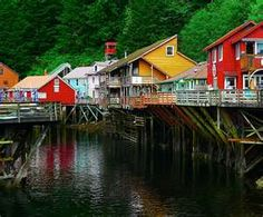 Ketchikan, AK --- spent an hour watching the salmon swim up stream. so much excercise...no wonder they're so yummy.  :)