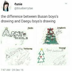 Hahaha lazy Daegu bois! Even their drawing was copied from JK n Chim!
